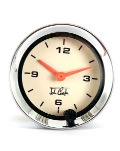 MCPIS.CA1100.02C John Cooper Analogue Clock - Magnolia and Chrome