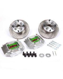 "MCPBRK.7.9V-S 7.9"" Mini Cooper Vented Brake Kit with Silver Alloy Calipers"