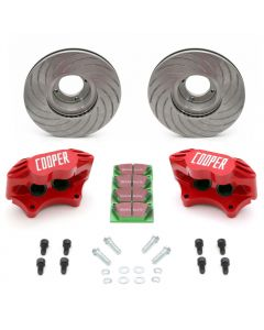 Classic Mini 8.4'' Vented Brake Kit with Red Alloy Calipers by Cooper Car Company
