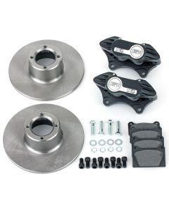 "Cooper 8.4"" Std 4 pot Alloy Caliper Brake Conversion Road Kit - Black"