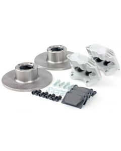"Cooper 8.4"" Std 4 pot Alloy Caliper Brake Conversion Road Kit - Silver"