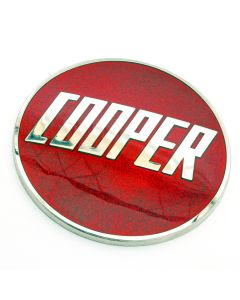 Enamel Metal Cooper Badge Emblems In Red