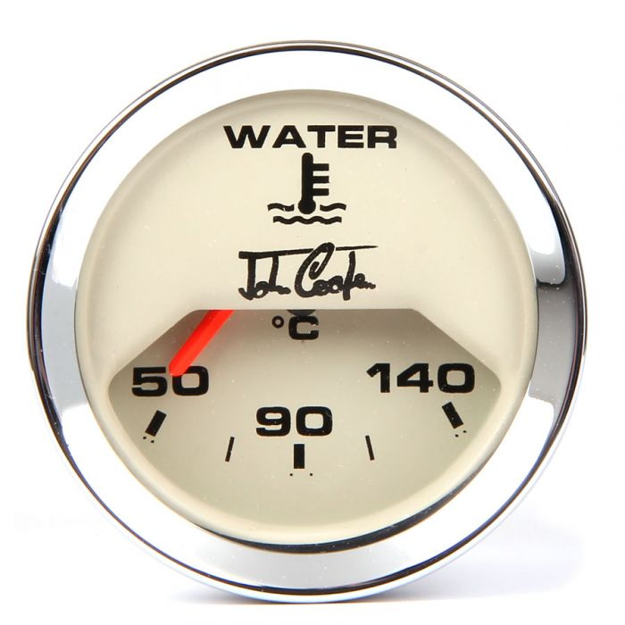 John Cooper Water Temperature Gauge - Magnolia and Chrome