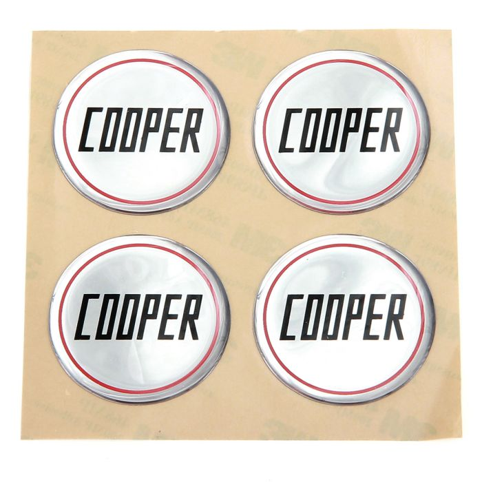 Cooper Silver Wheel Badges